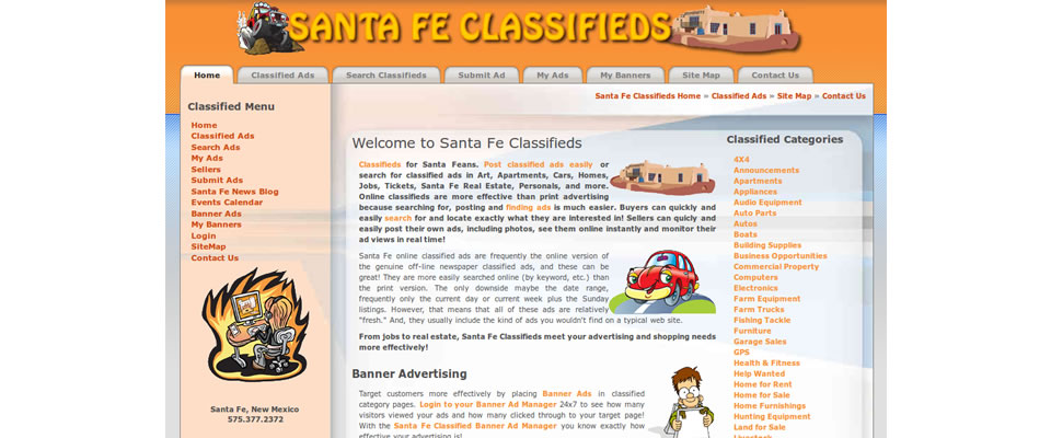 Santa Fe Classifieds